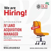 Joint venture Land Acquisition Manager
