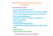 Android application development course online